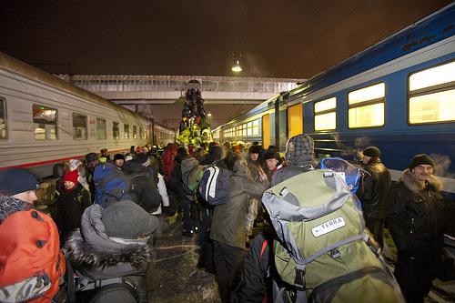 Lama Ole Nydahl, budismo en Irkustsk Rusia en Winter Tour 2012