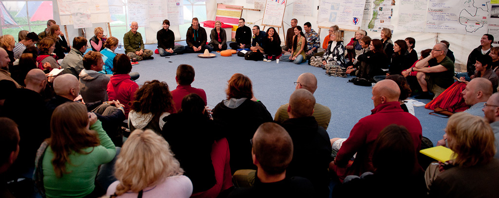 Centro europeo Camino del diamante - después de meditación con Lama Ole